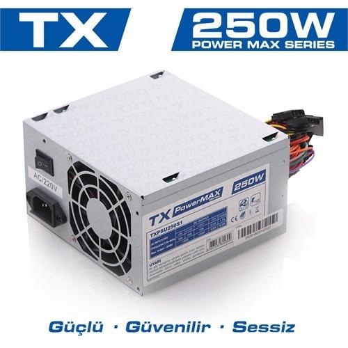 TX PowerMAX 250W 2xSATA, 2xIDE Bilgisayar Power Supply (TXPSU250S1)