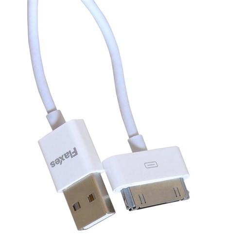 Flaxes FTK-204B iPad2 - New iPad Beyaz Data Kablosu