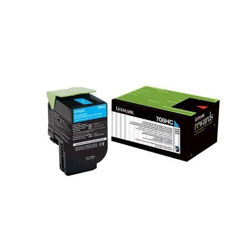 Lexmark 708HC Mavi Toner (70C8HC0)