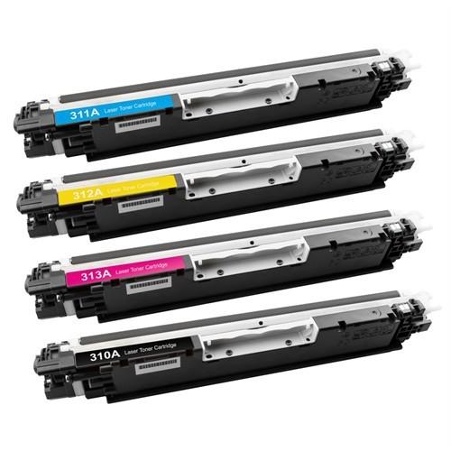 Neon Hp Laserjet Pro Cp1025nw Kırmızı Renkli Toner Muadil Yazıcı Kartuş