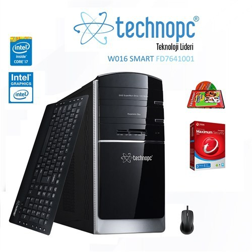 Technopc W016 SMART FD7641001 Intel Core i7 620 2.66GHz 4GB 1TB Masaüstü Bilgisayar