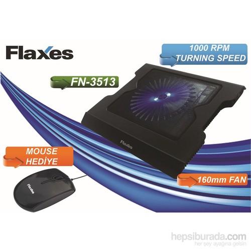 Flaxes FN-3513 Ayaklı USB LED Fanlı Notebook Soğutucu + Mouse Hediyeli