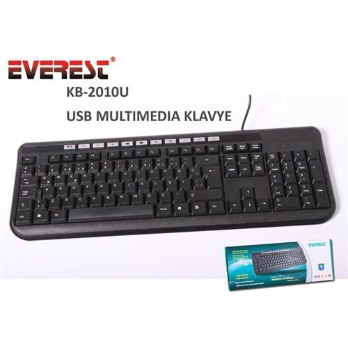 Everest KB-2010U Siyah/gümüş USB Multi media Q Klavye