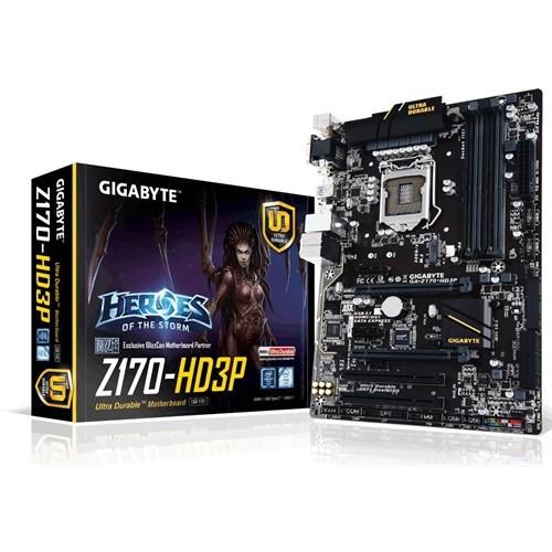 Gigabyte GA-Z170-HD3P Intel Z170 Express 3466MHz(OC) DDR4 Soket 1151 ATX Anakart