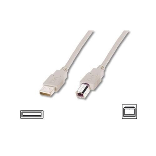 Digitus Ak-300105-050-E Dıgıtus Usb 2.0 Bağlantı Kablosu, Tip A Erkek - Tip B Erkek, 5 Metre, Awg 28, Us