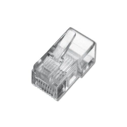 Digitus A-Mo-8-8-Sr-100 Dıgıtus Modüler Fiş, Cat. 5E, Rj45, 8P8c, Zırhsız (Unshielded), Yuvarlak Kablo