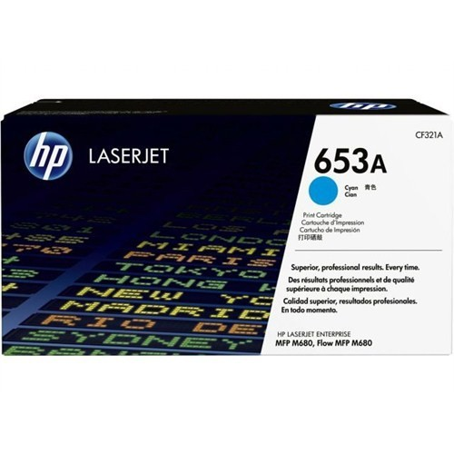 Hp Cf321a Hp Hp 653A Cyan Original Laserjet Toner Cartridge (~16,500 Yield)