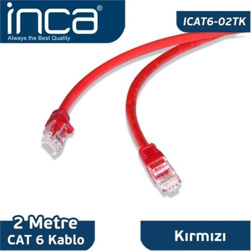 Inca ICAT6-02TK CAT6 2M Kırmızı
