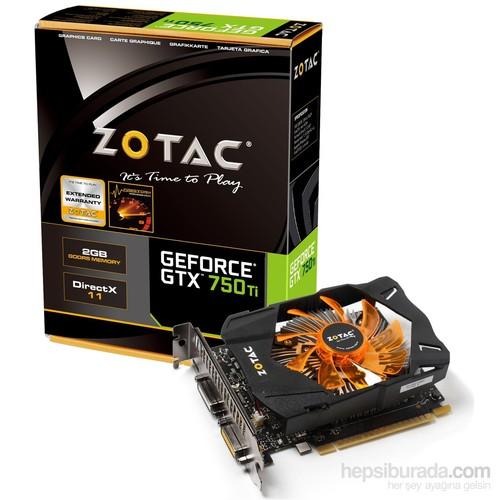 Zotac Nvidia GeForce GTX 750Ti 2GB 128Bit GDDR5 (DX11.2) PCI-E 3.0 Ekran Kartı (ZT-70601-10M)