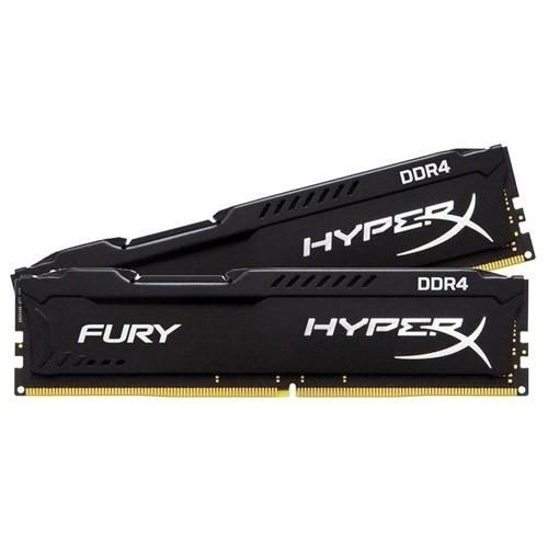 Kingston HyperX Fury Black 16GB(2x8GB) 2400MHz DDR4 Ram HX424C15FBK2/16