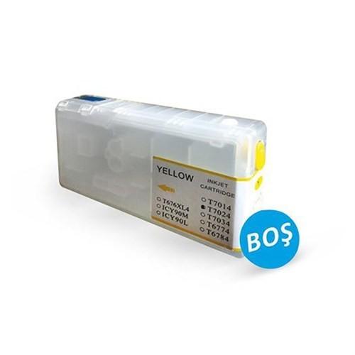 Epson Workforce Uyumlu T7014 / T7024 / T7034xxl Uyumlu Oto Reset Chipli Sarı Dolan Kartuş