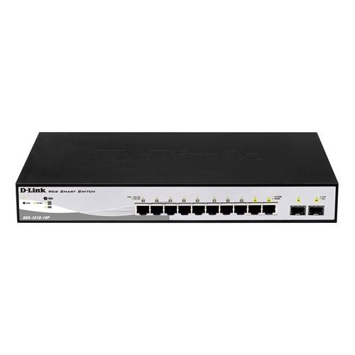 D-Link DGS-1210-10P 8-Port 10/100/1000 PoE + 2-Port Combo SFP Switch
