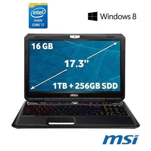 "MSI GT70 Dominator Pro 2PE-2227TR SuperR Intel Core i7 4810MQ 2.8GHz / 3.8GHz 16GB 1TB + 256GB SSD 17.3"" Taşınabilir Bilgisayar"