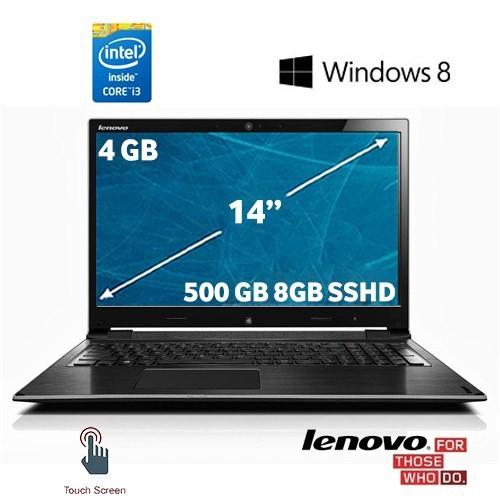 "Lenovo Flex 14 Intel Core i3 4010U 1.7GHz 4GB 500GB (8GB SSHD) 14"" Dokunmatik Taşınabilir Bilgisayar 59-390007"