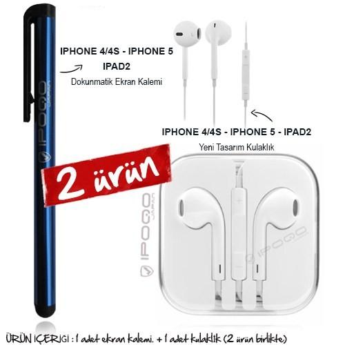 Ipoqo Dokunmatik Kalem iPad Kulaklık (itp011blbun)