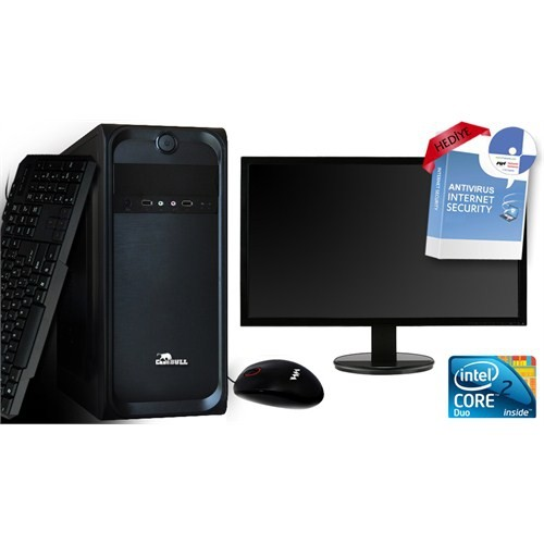 "CaseBull PCE84322OBMW8S Intel Core 2 Duo E8400 3.0GHz 2GB 320GB 18.5"" LED Masaüstü Bilgisayar + Antivirüs Hediyeli"