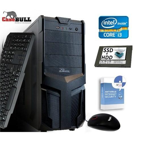 CaseBull PCI360054OB Intel Core i3 350M 2.26GHz 4GB 500GB + 60GB SSD Masaüstü Bilgisayar + Antivirüs Hediyeli