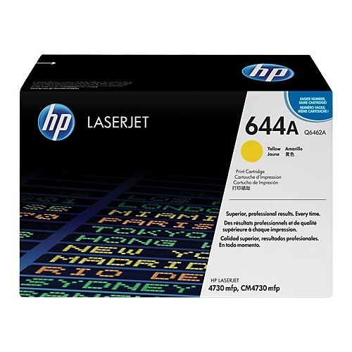 HP 644A 12000 Sayfa Kapasiteli Sarı Toner Q6462A