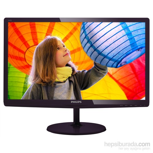 "Philips 247E6QDAD/00 23.6"" 5ms (Analog+DVI+MHL-HDMI) Full HD IPS Monitör"