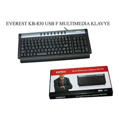 Everest Kb-830 Gri/Siyah Usb Multi Media F Klavye