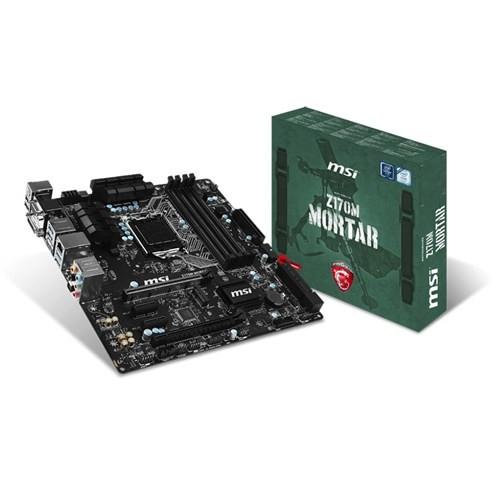 MSI Z170M MORTAR Intel Z170 3200MHz(OC) DDR4 Soket 1151 mATX Anakart