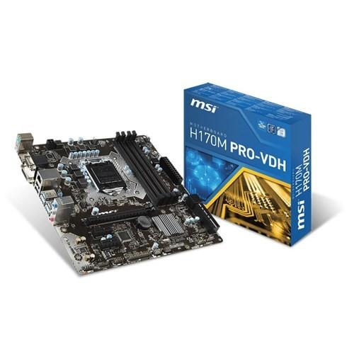 MSI H170M PRO-VDH Intel H170 2133MHz DDR4 Soket 1151 mATX Anakart