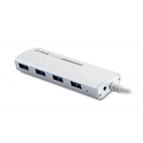 S-Link Sl-U3047 S-Lınk Usb 3.0 4 Port İnce Tasarım Usb Çoklayıcı