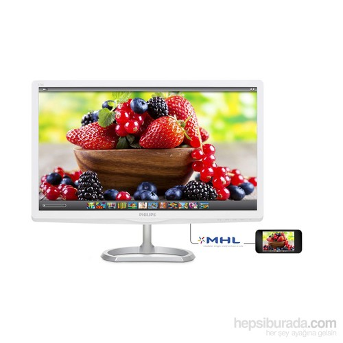 "Philips 276E6ADSS/00 27"" 5ms (Analog+DVI-D+MHL/HDMI) Full HD IPS Monitör"
