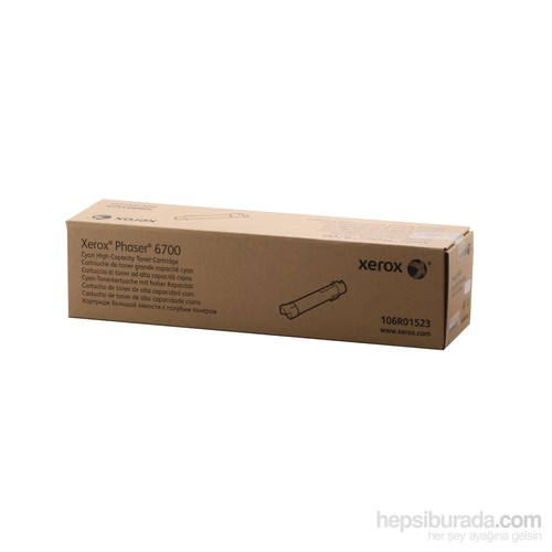 Xerox Phaser 6700 Y.Kap.Cyan Toner 12.000 Sayfa
