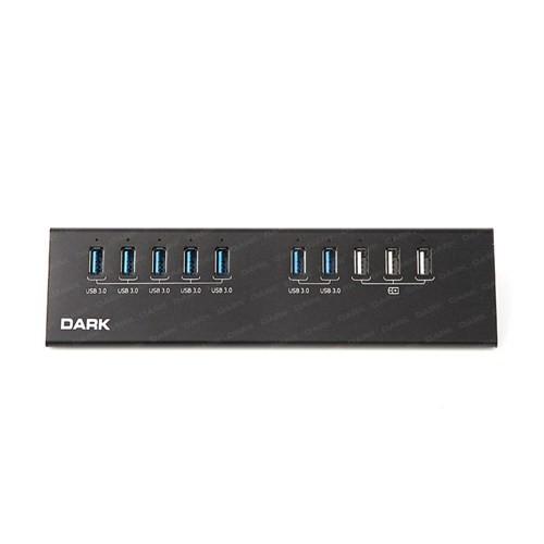 Dark Connect Master 7xUSB 3.0 + 3x Hızlı Şarj Çıkışlı Adaptörlü USB Hub (DK-AC-USB3100)