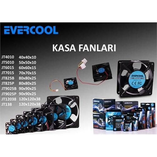 Evercool JT6015 60*60*15mm Kutulu Kasa Fanı