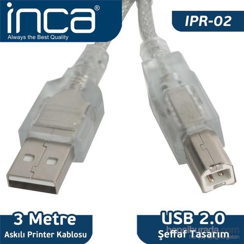 Inca USB 2.0 Printer Kablosu 3MT %100 Bakır (Askılı) IPR-02