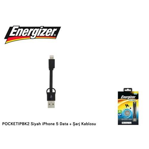 Energizer Pocketıpbk2 Siyah İphone 5 Data + Şarj Kablosu