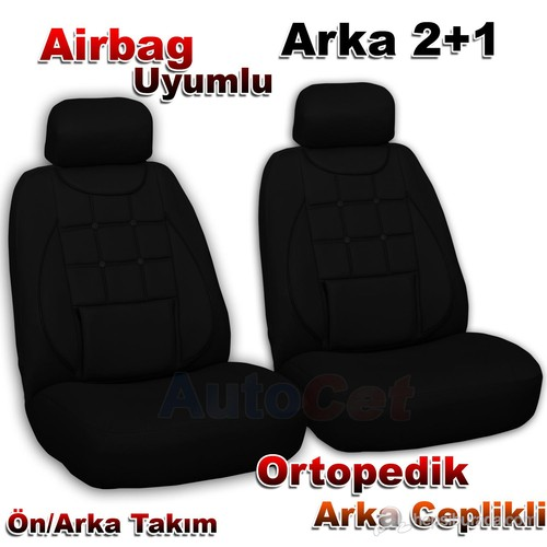Stil Ekostar Fiat DOBLO Siyah 2+1 Oto Koltuk Kılıfı (31401)