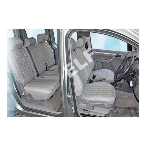 Z tech Volkswagen Amarok 2011 ve sonrası Gri renk Araca özel Oto Koltuk Kılıfı