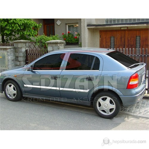 S-Dizayn Opel Astra G Yan Kapı Çıtası 4 Prç. P.Çelik (2001-2009)