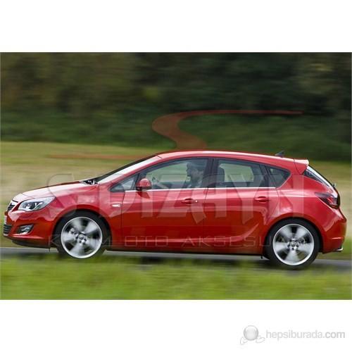 S-Dizayn Opel Astra J Cam Çıtası 4 Prç. P.Çelik HB (2010>)