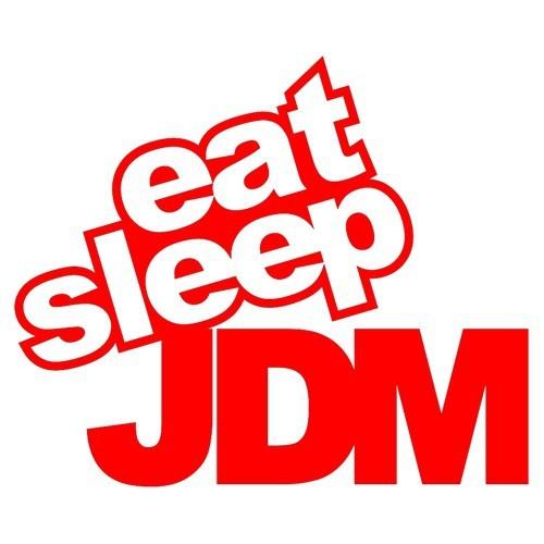 "Z tech "" Eat Sleep JDM "" Kırmızı Sticker 14x11cm"