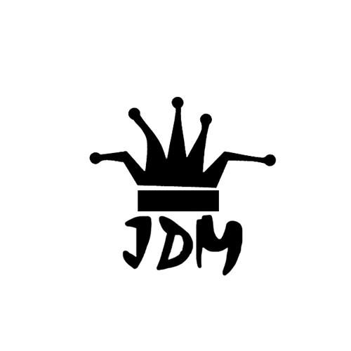 """Z tech """" JDM King """" Sticker 14x14cm Siyah"""
