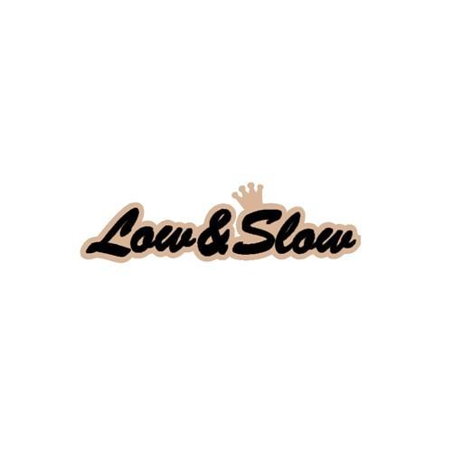 """Z tech """" Low&Slow """" Siyah Bej Sticker 19x5cm"""