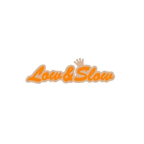 """Z tech """" Low&Slow """" Turuncu Bej Sticker 19x5cm"""