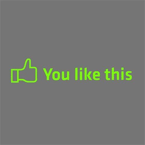 """Z tech """" You Like This """" Yeşil Sticker 18x4 cm"""