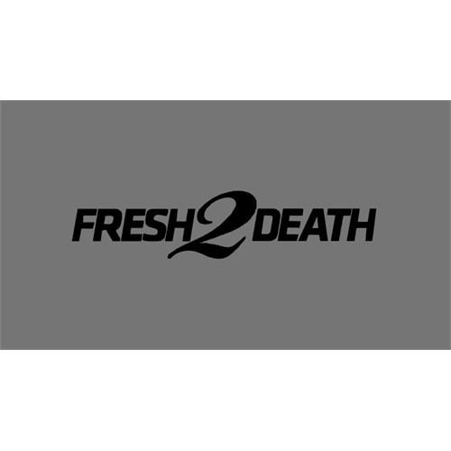 """Z tech """" Fresh 2 Death """" Siyah Sticker 18x4 cm"""