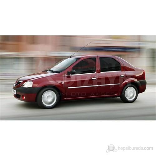 S-Dizayn Dacia Logan 2005> Model ve Üzeri Cam Çıtası 4 Prç. Krom P.Çelik
