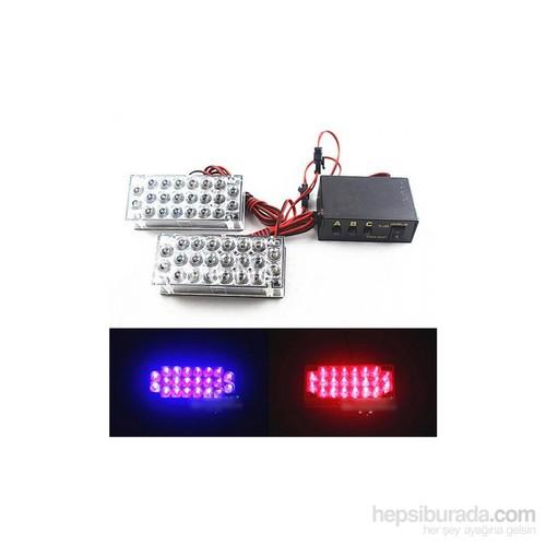 Schwer 3000 Metreden farkedilen 44 led kırmızı mavi çakar lamba