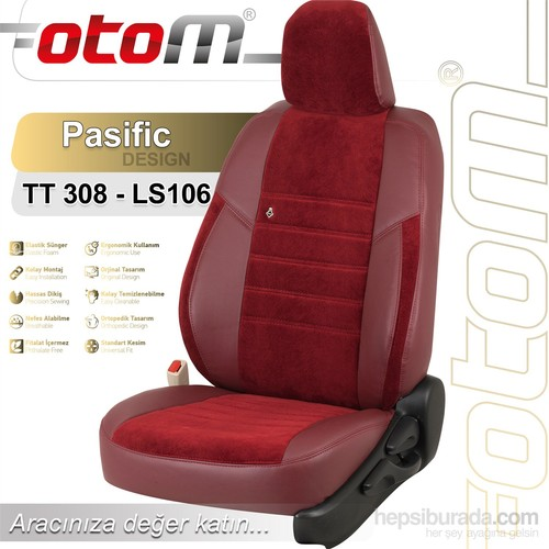 Otom V.W. Passat 2005-2010 Pasific Design Araca Özel Deri Koltuk Kılıfı Bordo-103