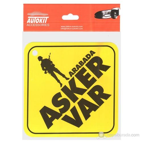 """Oto Stıker """"Arabada Asker Var"""""""