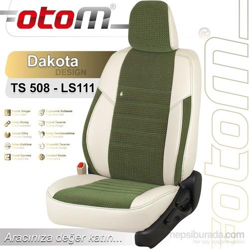 Otom Toyota Hılux 2015-Sonrası Dakota Design Araca Özel Deri Koltuk Kılıfı Yeşil-101