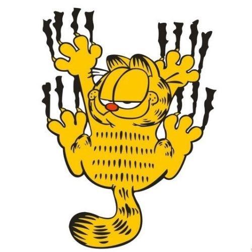 Csı Sevimli Garfield Fosforlu Sticker ( 13 Cmx9cm)