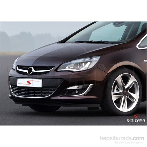 S-Dizayn Opel Astra J SD 2012 Üzeri Krom Sis Farı Çerçevesi 2 Prç Krom Paslanmaz Çelik